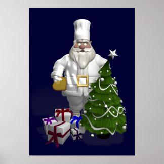 Sweet Santa Claus Chef Print