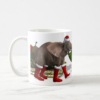 Sweet Santa Claus Elephant Coffee Mug