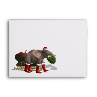 Sweet Santa Claus Elephant Envelope
