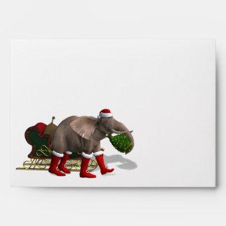Sweet Santa Claus Elephant Envelopes