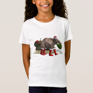 Sweet Santa Claus Elephant T-Shirt