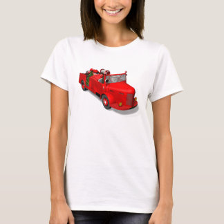 Sweet Santa Claus In Fire Engine T-Shirt