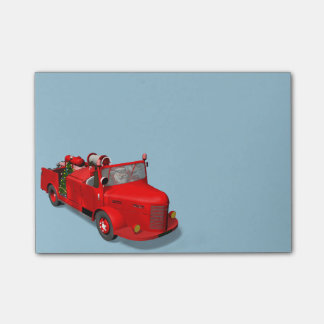 Sweet Santa Claus In Fire Engine Post-it® Notes