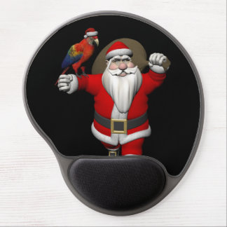 Sweet Santa Claus Loves Macaws Parrots Gel Mouse Pad
