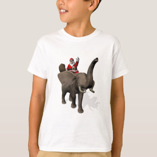 Sweet Santa Claus Rides An Elephant T-Shirt