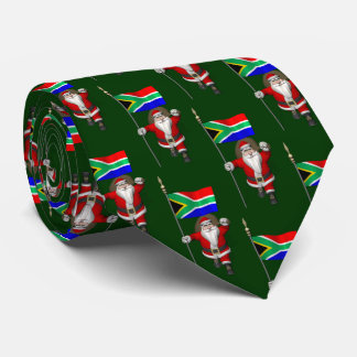 Sweet Santa Claus Visiting Of South Africa Tie