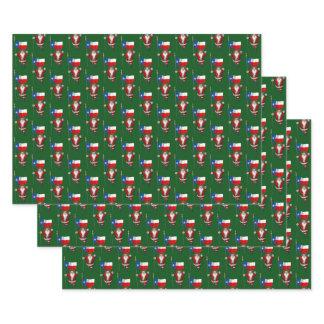 Sweet Santa Claus Visits Texas Wrapping Paper Sheets