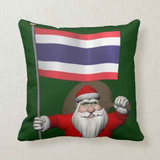 Sweet Santa Claus Visits Thailand Throw Pillow
