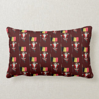 Sweet Santa Claus With Ensign Of Belgium Pillow