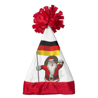Sweet Santa Claus With Ensign Of Germany Santa Hat