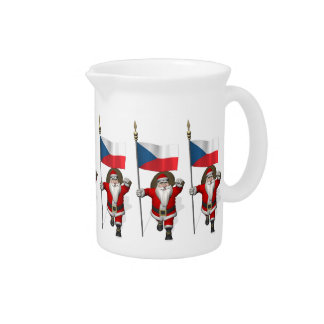Sweet Santa Claus With Flag Of Czech Republic Pitcher