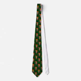 Sweet Santa Claus With Flag Of Germany Tie