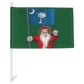 Sweet Santa Claus With Flag Of South Carolina