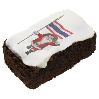 Sweet Santa Claus With Flag Of Thailand Brownie
