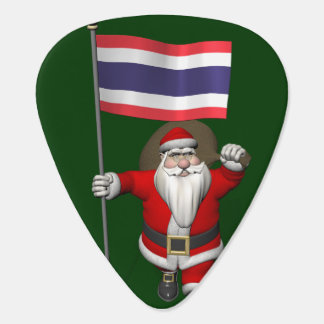 Sweet Santa Claus With Flag Of Thailand Guitar Pick