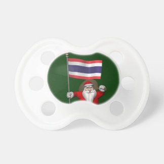 Sweet Santa Claus With Flag Of Thailand Pacifier
