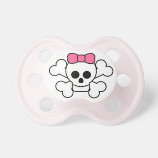 Sweet & Sassy Baby Girl Skull & Bow Pacifier