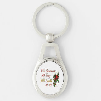 Sweet, Sassy, Lovable at 60 Keychain