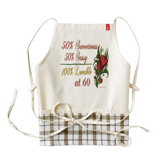 Sweet, Sassy, Lovable at 60 Zazzle HEART Apron