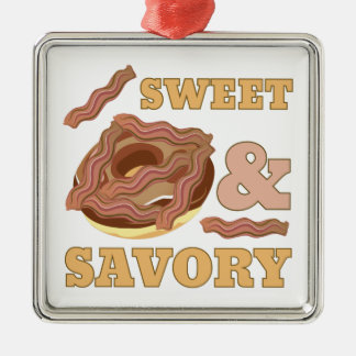 Sweet & Savory Square Metal Christmas Ornament