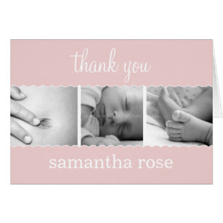 Sweet Scallops Baby Thank You Card Card