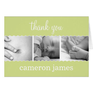 Sweet Scallops Baby Thank You Card Cards