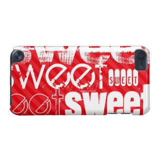 Sweet; Scarlet Red Stripes iPod Touch (5th Generation) Cover