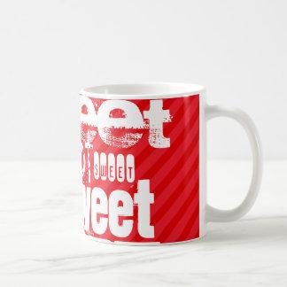 Sweet; Scarlet Red Stripes Classic White Coffee Mug