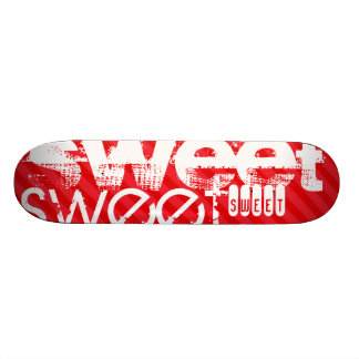 Sweet; Scarlet Red Stripes Skateboard Deck