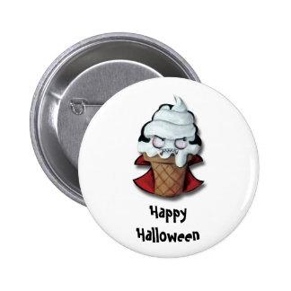 Sweet Scary Ice Cream Vampire Pinback Button