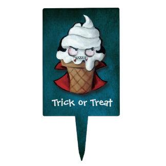 Sweet Scary Ice Cream Vampire Cake Picks