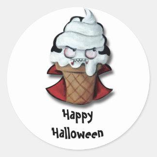 Sweet Scary Ice Cream Vampire Classic Round Sticker