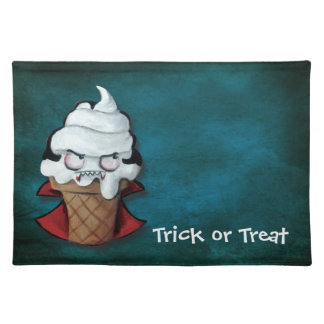 Sweet Scary Ice Cream Vampire Cloth Placemat