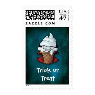 Sweet Scary Ice Cream Vampire Postage Stamp
