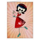 Sweet & Scary Skeleton Girl Cards