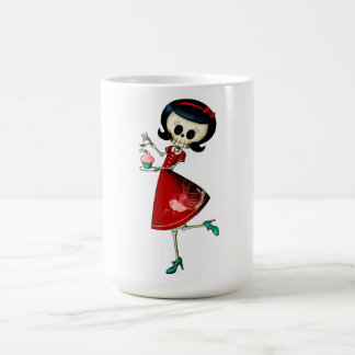 Sweet & Scary Skeleton Girl Coffee Mug