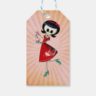 Sweet & Scary Skeleton Girl Gift Tags