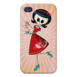 Sweet & Scary Skeleton Girl iPhone 4 Cover