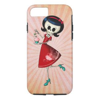 Sweet & Scary Skeleton Girl iPhone 7 Case