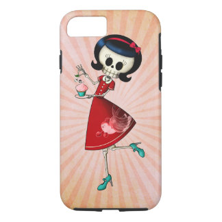 Sweet & Scary Skeleton Girl iPhone 8/7 Case