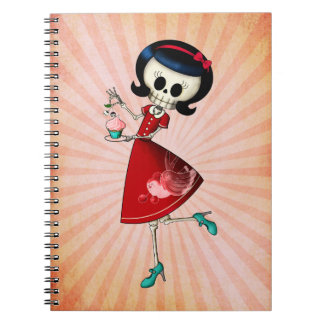 Sweet & Scary Skeleton Girl Note Book