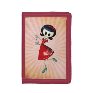 Sweet & Scary Skeleton Girl Trifold Wallets