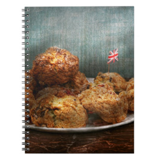 Sweet - Scone - Scones anyone Spiral Note Books