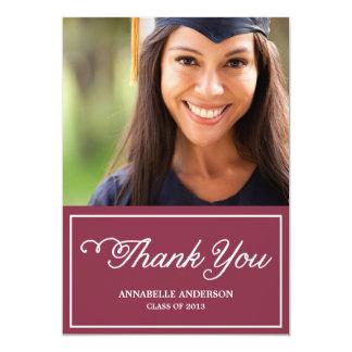 Sweet Script Chalkboard Graduation Thank You Card