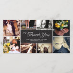 """SWEET SCRIPT COLLAGE   WEDDING THANK YOU CARD<br><div class=""""desc"""">OTHER COLORS AVAILABLE</div>"""