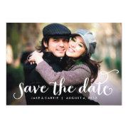 "Sweet Script photo save the date card 5"" X 7"" Invitation Card"