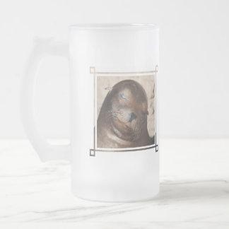 Sweet Sea Lion Frosted Beer Mug
