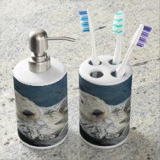 Sweet Sea Otter Toothbrush Holder & Soap Dispenser