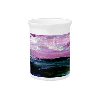 Sweet Season Ocean Seascape Sunrise Waves Drink Pitchers