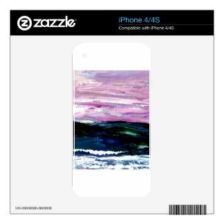 Sweet Season Ocean Seascape Sunrise Waves iPhone 4S Skin